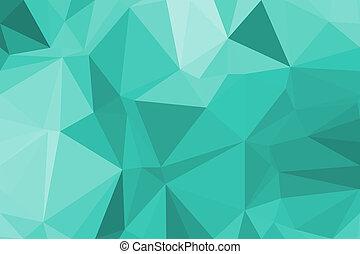 résumé, vecteur, polygone, fond