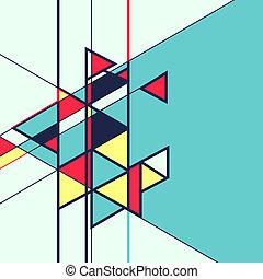 résumé, vecteur, retro, fond, géométrique, coloré