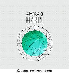 résumé, vecteur, triangle, géométrique, fond