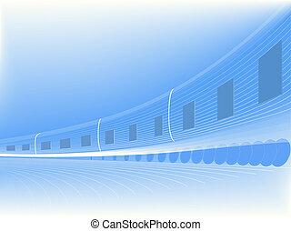 résumé, vecteur, vitesse, train.