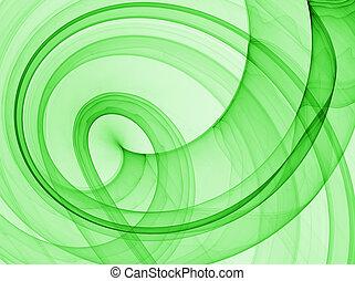 résumé vert, fond