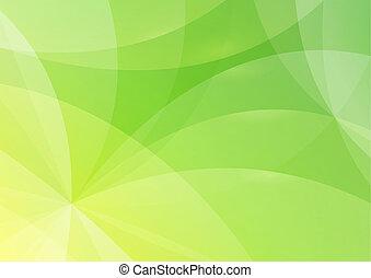résumé, vert, fond jaune
