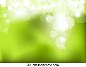 résumé, vert, incandescent, fond