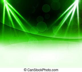 résumé vert, laser, fond