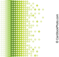 résumé, vert, mosaïque, fond