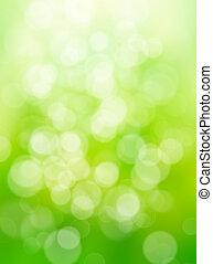 résumé, vert, nature, fond