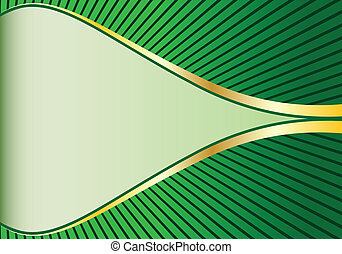 résumé, vert, or, fond