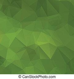 résumé, vert, polygone, fond