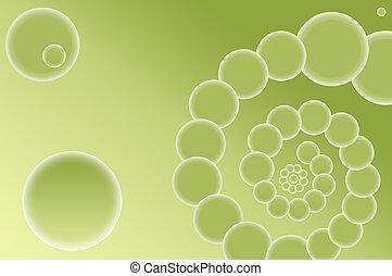 résumé, vert, spirale, fond
