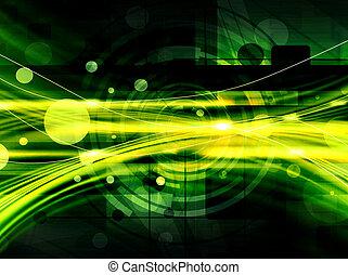 résumé vert, technologie, backgroun