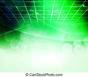 résumé, vert, virtuel, fond