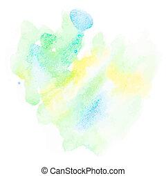 résumé, watercolor., eps10, +, coloré