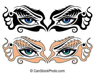 résumé, yeux, girl