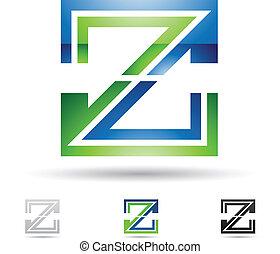résumé, z, lettre, icône