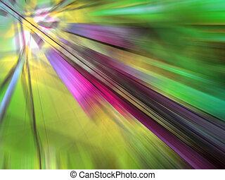 résumé, zoom, effet, mouvement, arrière-plan vert