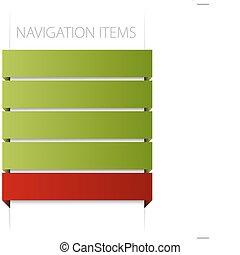 részlet, modern, navigáció