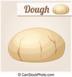 részletes, dough., vektor, ikon