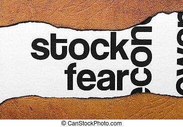részvény, félelem, fogalom