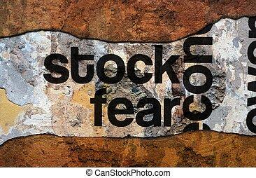 részvény, félelem, grunge, fogalom