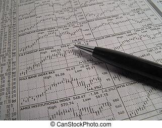 részvény, kutatás
