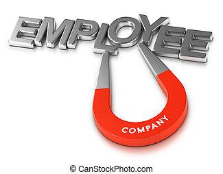 rétention, employés, programme, séduisant, employeur