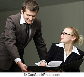 réunion, équipe, business