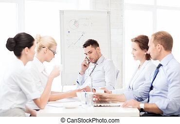 réunion, accentué, mâle, business, patron