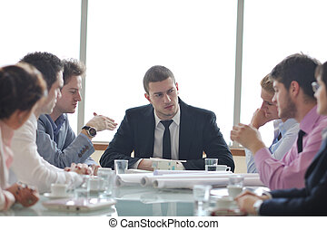 réunion, architecte, equipe affaires