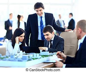 réunion, architectes, bureau