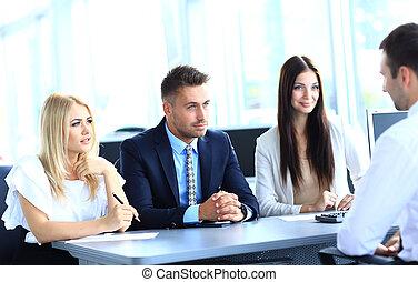 réunion, bureau affaires