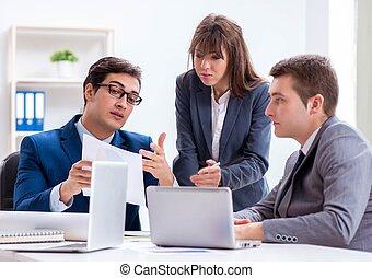 réunion, bureau, employés, business