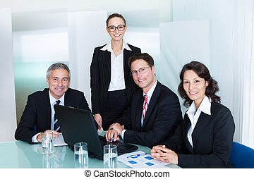 réunion,  Business, avoir, équipe