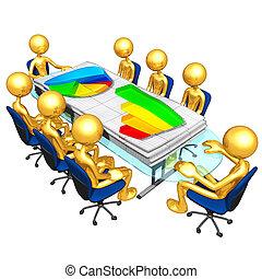 réunion, business, rapports