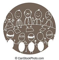 réunion, collaboration, business