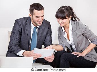 réunion, deux, professionnels