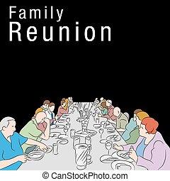 réunion famille, repas