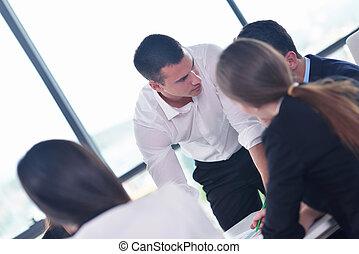 réunion, groupe, bureau affaires, gens