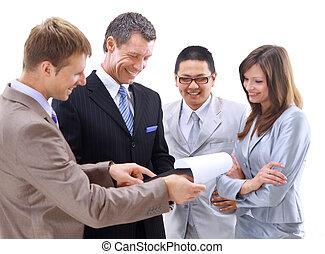 réunion, groupe, ou,  Business, équipe