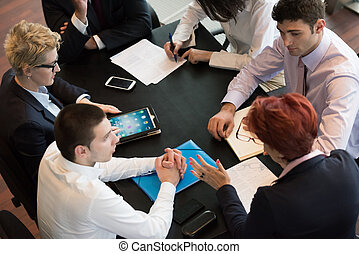 réunion, groupe, professionnels