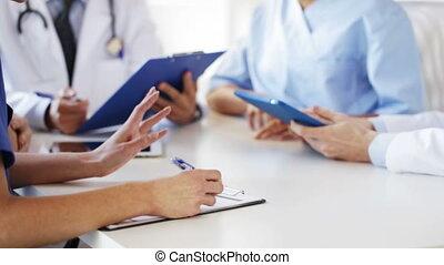 réunion, hôpital, groupe, médecins