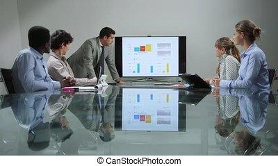 réunion, hommes, groupe, femmes