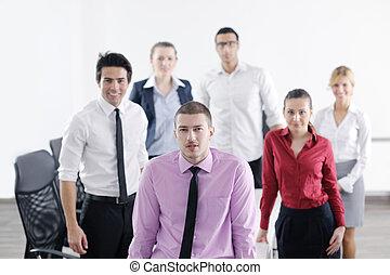 réunion, jeune,  Business, homme