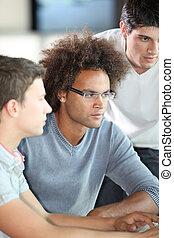 réunion, jeune, business, ingénieurs