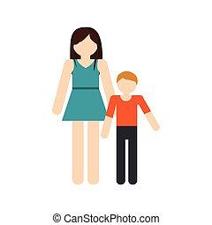 réunion, mère, famille, fils