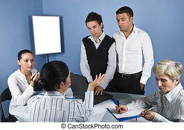 réunion, milieu, business