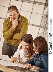 réunion, partenaires, communiquer, business