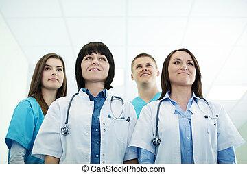 réussi, équipe, monde médical
