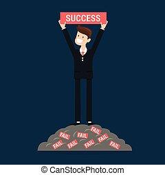réussi, businessman.