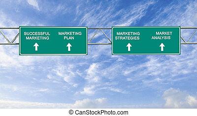 réussi, commercialisation, panneaux signalisations