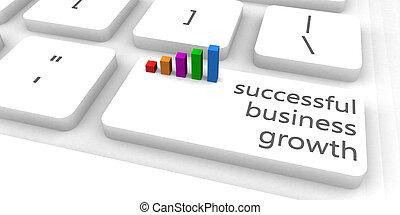 réussi, croissance affaires